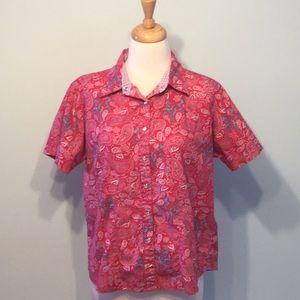 Wrangler Snap Short Sleeve Top w/Paisley & Horses